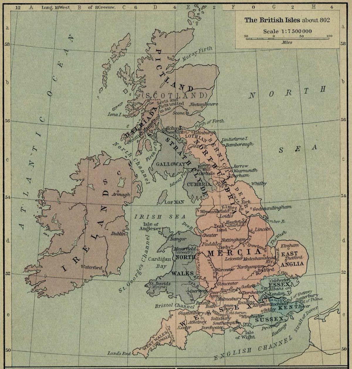 Immagini Della Cartina Della Gran Bretagna.Antica Mappa Della Gran Bretagna Vecchia Mappa Della Gran Bretagna Europa Del Nord Europa