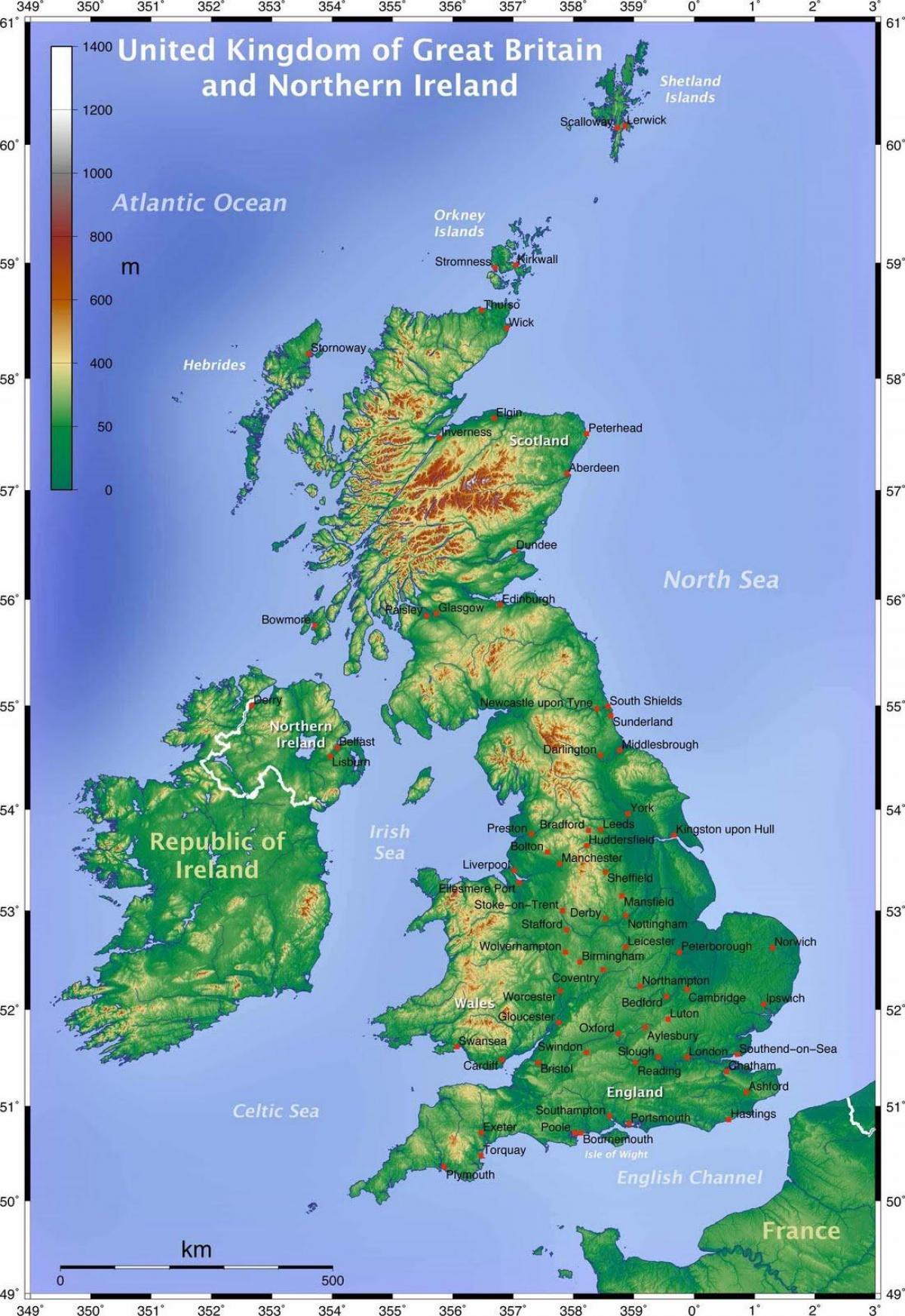 La Cartina Geografica Della Gran Bretagna.Mappa Geografica Del Regno Unito Mappa Geografica Della Gran Bretagna Europa Del Nord Europa