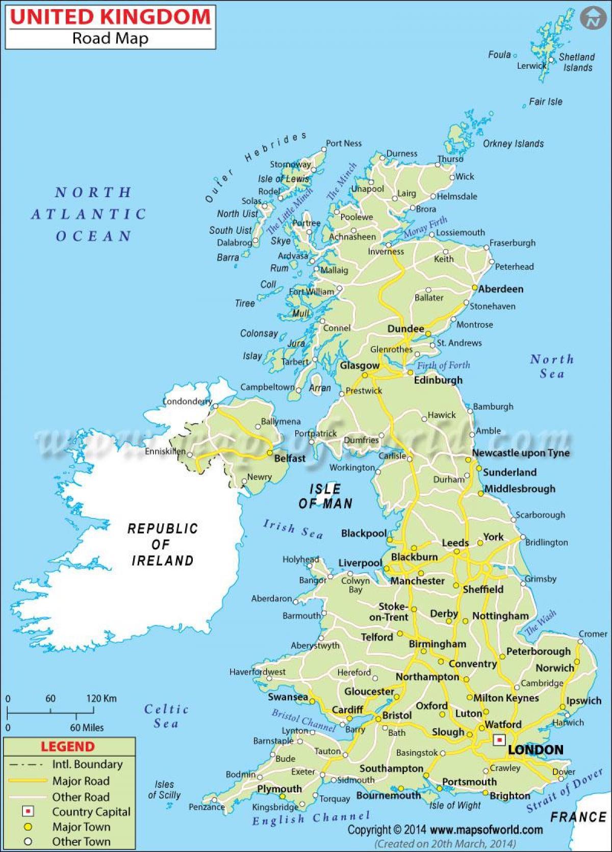 Cartina Stradale Gran Bretagna.La Gran Bretagna Mappa Stradale Gran Bretagna Mappe Stradali Dettagliate Europa Del Nord Europa