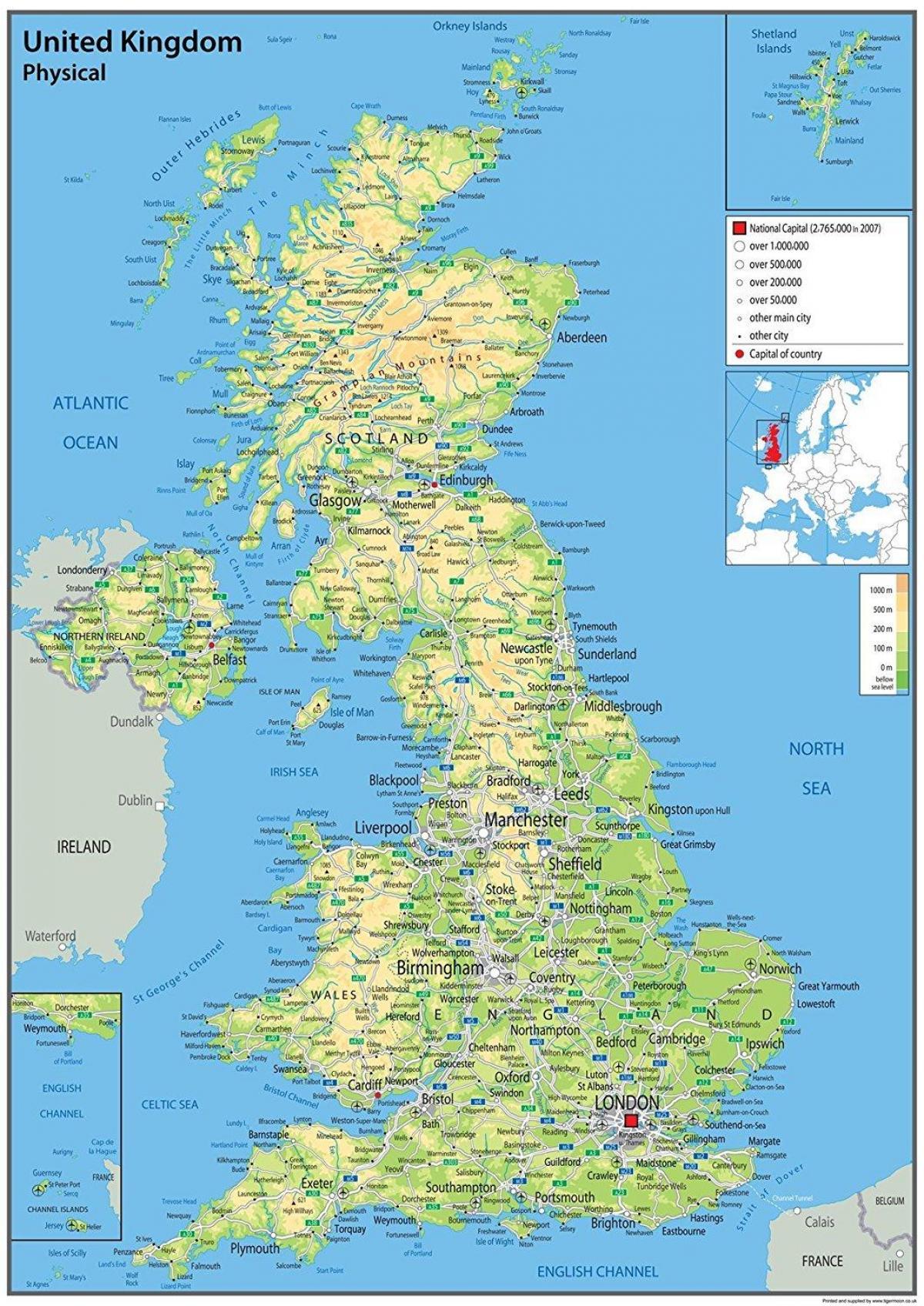 Immagini Della Cartina Del Regno Unito.Uk Mappa Mappa Grande Del Regno Unito Per La Stampa Europa Del Nord Europa