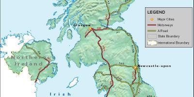 Cartina Fisica Regno Unito Da Stampare.Mappa Fisica Del Regno Unito Mappa Fisica Di Gran Bretagna Europa Del Nord Europa
